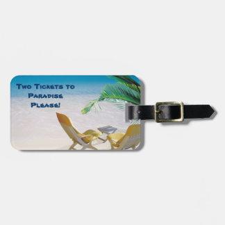 Paradise Luggage Tag