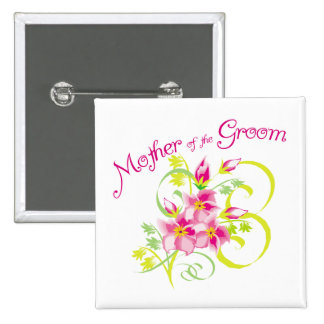 Paradise Mother of the Groom Gifts 15 Cm Square Badge