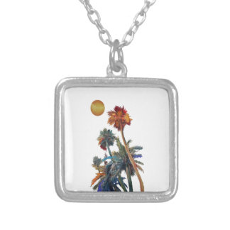 Paradise Palms Silver Plated Necklace