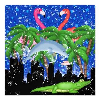 Paradise Party in Style Bright Lights - SRF Custom Invitation