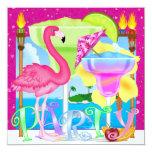 Paradise PARTY / Luau - SRF 13 Cm X 13 Cm Square Invitation Card