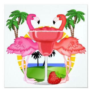 "Paradise Party - SRF 5.25"" Square Invitation Card"