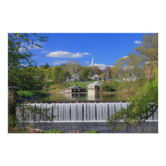 Paradise Pond Smith College Northampton in Spring Poster