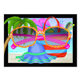 "Paradise - SRF 4.5"" X 6.25"" Invitation Card"
