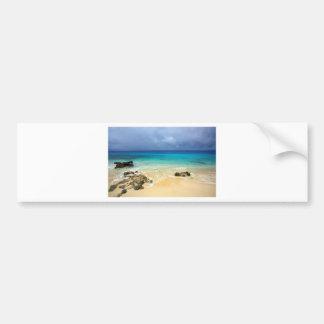 Paradise tropical island beach bumper sticker