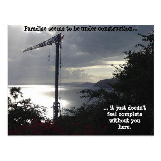 Paradise (under construction) postcard