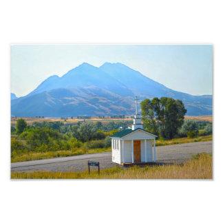 Paradise Valley Chapel, Montana Photo Print