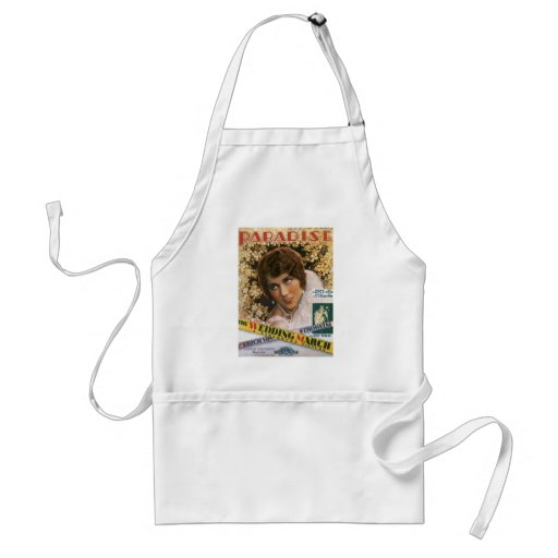 Paradise Vintage Songbook Cover Aprons
