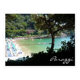 paraggi beach postcard