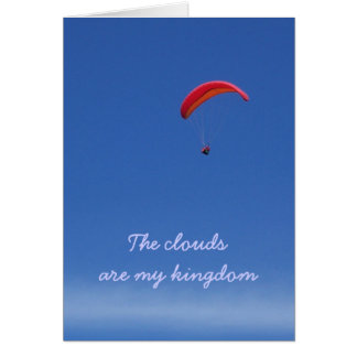 Paraglider above the clouds card