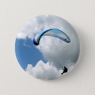 Paraglider in Flight 6 Cm Round Badge