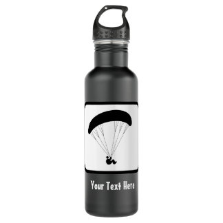 Paraglider Logo - Customize the Text on this 710 Ml Water Bottle
