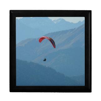 Paraglider Paragliding Para Glide Large Square Gift Box