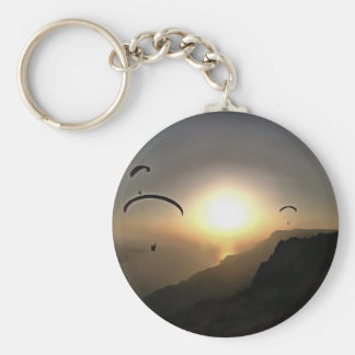 Paragliders Flying Without Wings Basic Round Button Key Ring