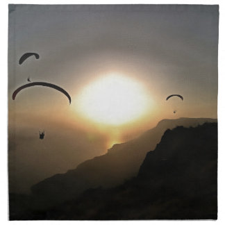 Paragliders Flying Without Wings Napkin