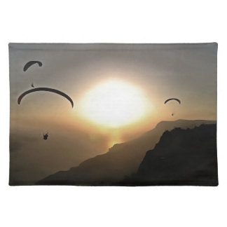 Paragliders Flying Without Wings Placemat