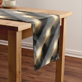 Paragliders Flying Without Wings Short Table Runner