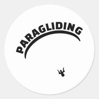 Paragliding Classic Round Sticker