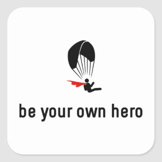 Paragliding Hero Square Sticker