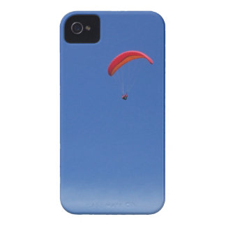 Paragliding in Blue Sky with Red Wing iPhone 4 Cover