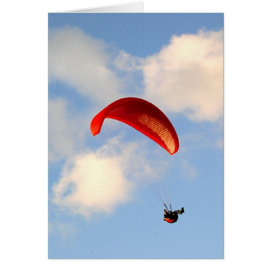 PARAGLIDING IN JERSEY CARD