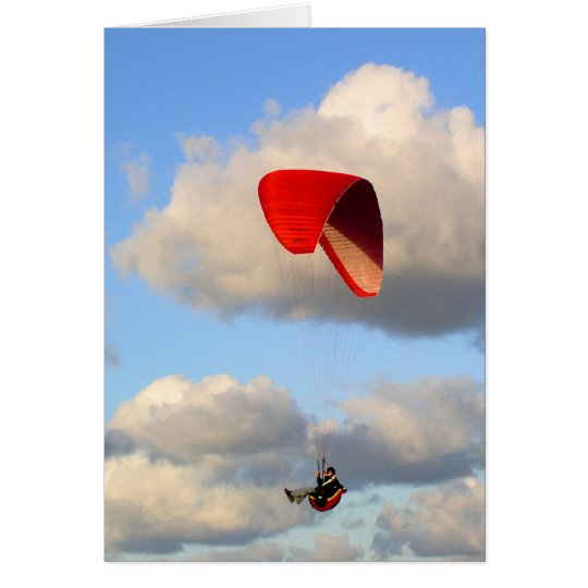 PARAGLIDING IN JERSEY No 2 Card