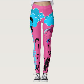 Paragliding Pixie Scenery Leggings