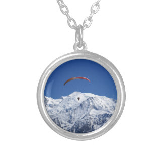 Paragliding Silver Plated Necklace