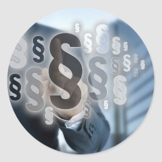 Paragraphs are selected by businessman classic round sticker