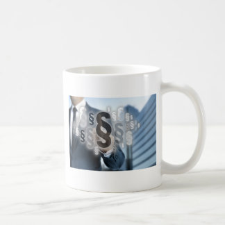 Paragraphs are selected by businessman coffee mug