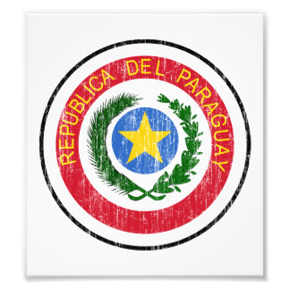 Paraguay Coat Of Arms Photographic Print