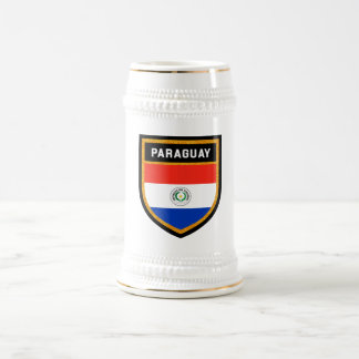 Paraguay Flag Beer Stein