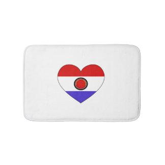 Paraguay Flag Heart Bath Mats
