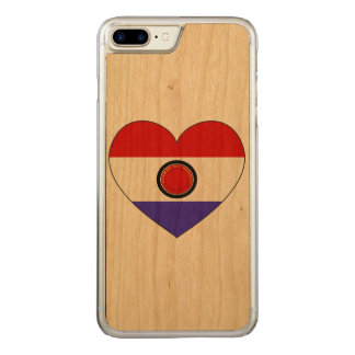 Paraguay Flag Heart Carved iPhone 8 Plus/7 Plus Case