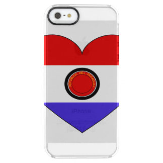 Paraguay Flag Heart Clear iPhone SE/5/5s Case