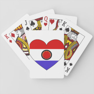Paraguay Flag Heart Playing Cards