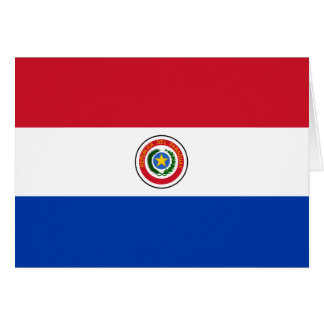 Paraguay Flag Note Card