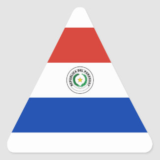 Paraguay Flag Triangle Sticker