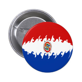 Paraguay Gnarly Flag Buttons