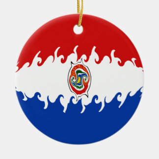 Paraguay Gnarly Flag Christmas Ornaments