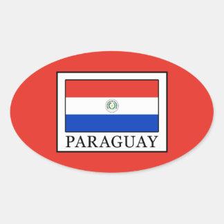 Paraguay Oval Sticker