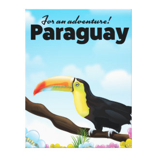 Paraguay Toucan travel poster Canvas Print