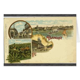 Paraguay, Vintage Greeting Card