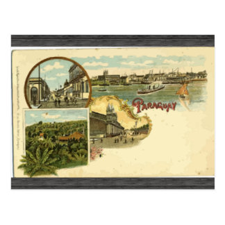 Paraguay, Vintage Postcards