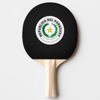 Paraguayan coat of arms ping pong paddle