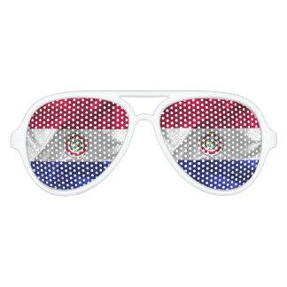 Paraguayan flag aviator sunglasses