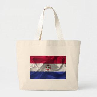Paraguayan flag large tote bag