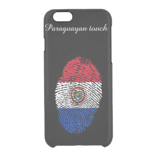 Paraguayan touch fingerprint flag clear iPhone 6/6S case