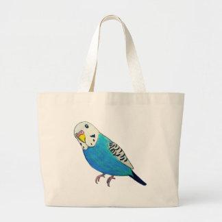 Parakeet Drawing Jumbo Tote Bag