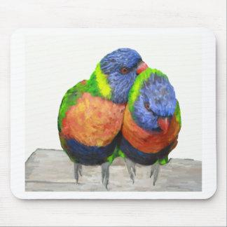 Parakeet Love Birds Mouse Pad